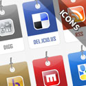Post thumbnail of Free Download Tag Style Social Bookmarking Design Icons