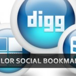 Download 3D Glossy Blue Color Social Media Bookmarking Icons
