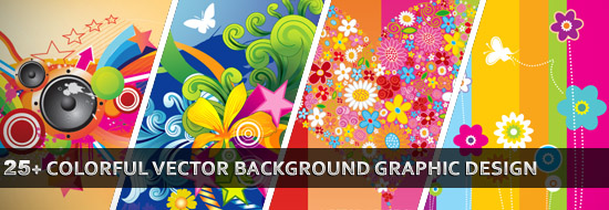 Post image of 25 Colorful Vector Background Graphic Designs