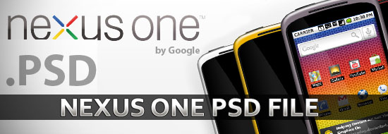 Free Download Google Nexus One PSD File