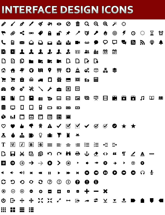 Free Interface Design Vector Icons and Vector Elements