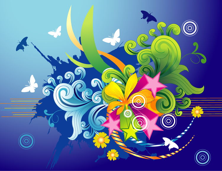 25 Colorful Vector Background Graphic Designs