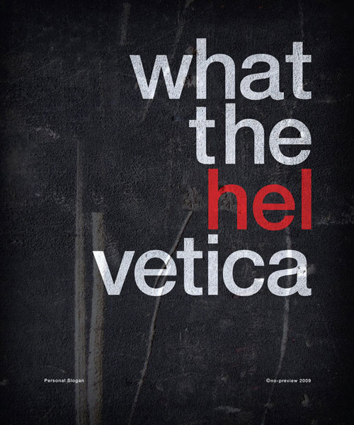 Helvetica Ready For Print Typography Poster