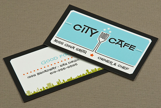 Retro Restaurant 50 Fresh Creative Business Card