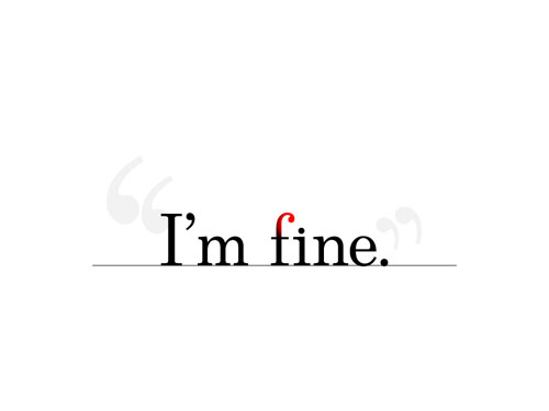 I'm fine ready For Print Typography Poster