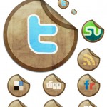 Download Sticky Social Networking Icon Set