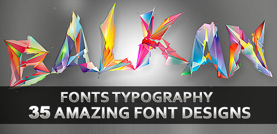 35 Amazing Fonts Typography Designs for Design Inspiration