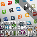 "Post Thumbnail of Free Download 500 Vector Social Networking Icon Set ""WPZOOM"""