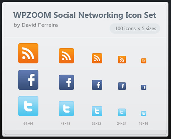 "500 Vector Social Networking Icon Set ""WPZOOM"""