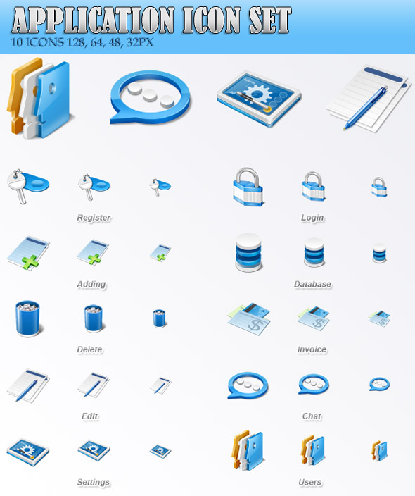 Application Icon Set