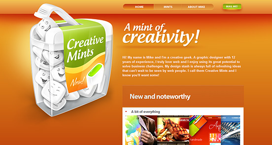 Fresh Creative Website Designs: 50+ Creative CSS Website Designs for Inspiration