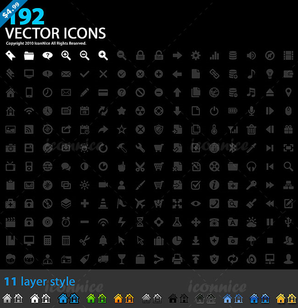 Vector Icons Preview