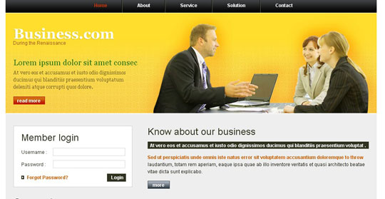 free download 50 high quality xhtml css corporate website templates