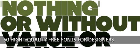 50 Hight-Quality Free Fonts For Designers
