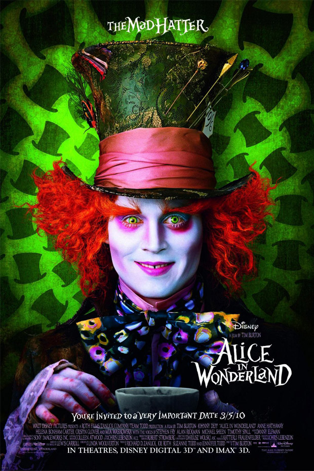 alice in wonderland 50+ Best Movie Posters of 2010 and 2011 - Movies Poster Showcase