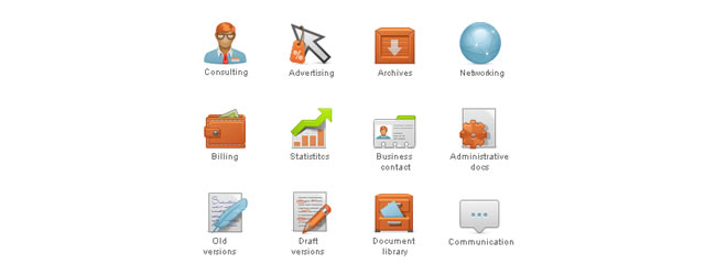 Content Management System Icon Set