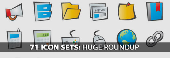 Post Thumbnail of 71 Icon Sets: Huge Roundup of Web, CMS, Mobile App Icon Sets