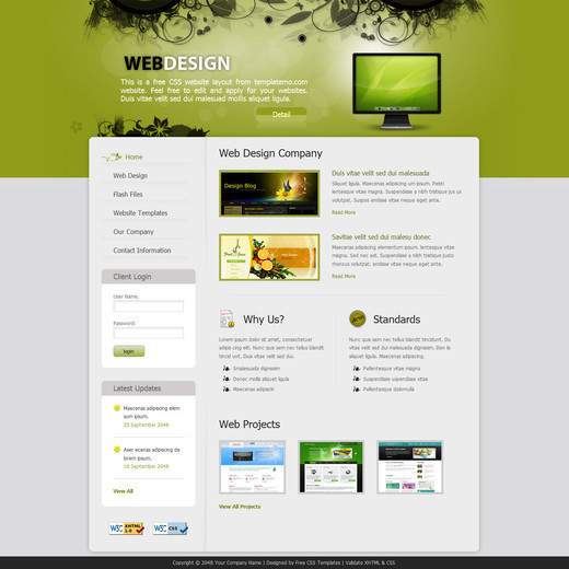 website designs free