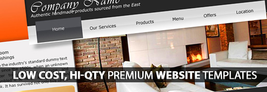 Premium Website Templates – Low Cost, Hi-Qty Templates