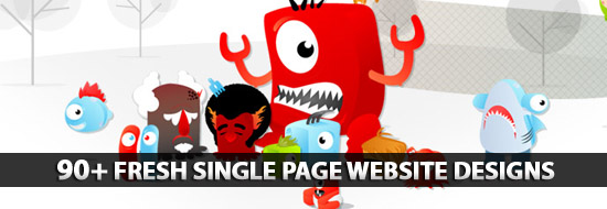 Single Page Websites Designs: 90+ Fresh and Creative Single Page Website Designs