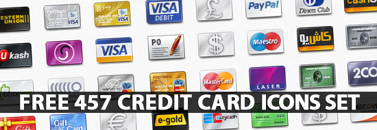 Credit Card Icons: Huge Collection of Free Vector Creadit Card ...