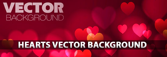 Free Hearts Vector Background
