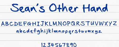 Sean's Other Hand Free Font