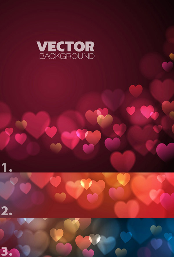 Hearts Vector Background