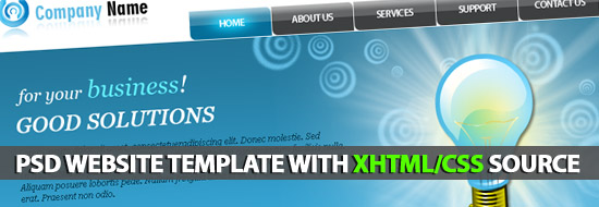 Free PSD Corporative Website Template With XHTML/CSS Source