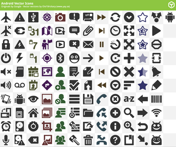 Android Vector Icons Pack