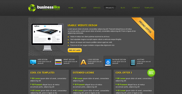 30 free premium cssxhtml website templates freebies graphic 30 free premium cssxhtml website templates flashek Gallery