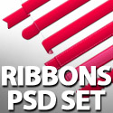 Free Ribbons Set PSD For Designers