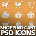40 Free Vector Shopping Cart PSD Icons