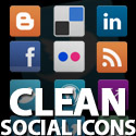 Post thumbnail of Clean Social Media Icons Set