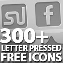 Post thumbnail of 300+ Free Letter Pressed Icons