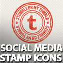 Post Thumbnail of 100 Stamp-Like & Vector Social Media Icons
