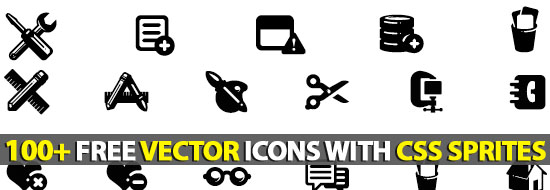 100+ Free Vector Icons With CSS Sprites :Plastique Icons Set
