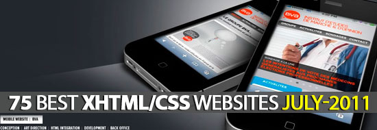 Post image of 75 Best XHTML/CSS Websites In The Month of July-2011