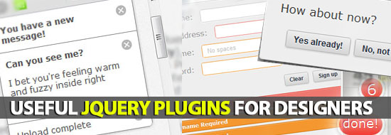 Useful jQuery Plugins For Designers