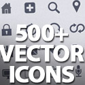 Post thumbnail of 500+ Vector Icons Pack with PSD
