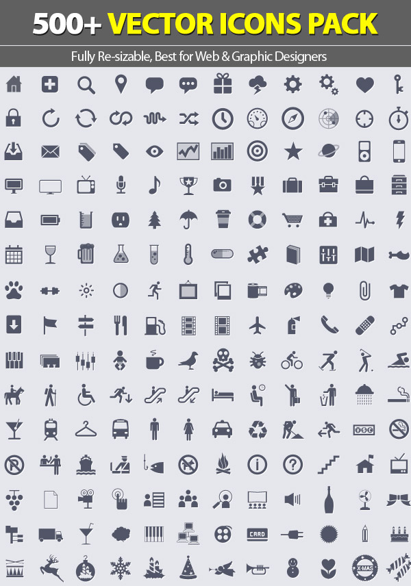 500+ Vector Icons Pack