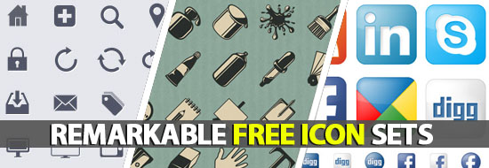 Remarkable Free Icon Sets Everyone Must Have