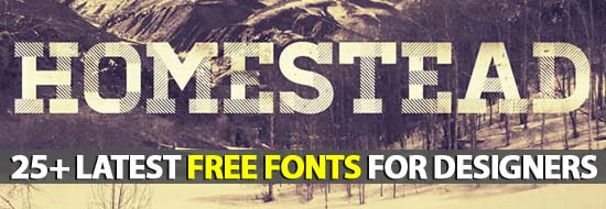 25+ Latest Free Fonts For Designers