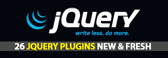 26 jQuery Plugins New & Fresh