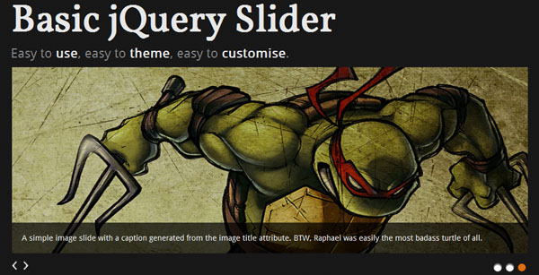 Basic jQuery Slider Plugin