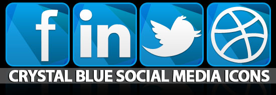 Crystal Blue Social Media Icons