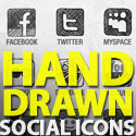 Post thumbnail of Freebie: Hand-Drawn Social Media Icons Set
