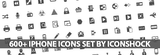 Post image of 600+ iPhone Icons Set By IconShock