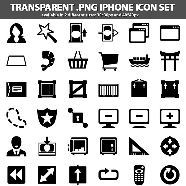 iPhone Icons Set