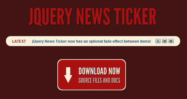 jQuery News Ticker Plugin